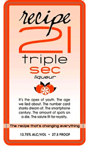 Recipe 21 Liqueur Triple Sec 1.00l - Case of 12